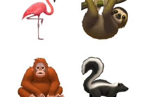 Apple just released new emojis coming to your iPhone this spring, including a flamingo, sloth and skunk