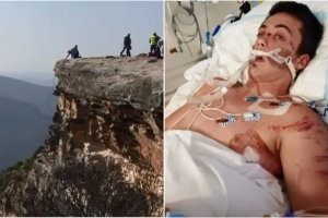 Teen lucky to be alive after 30-metre cliff fall
