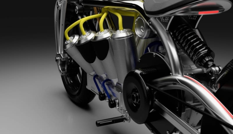 The Electric V8 on This $75,000 Bike Is One of the Coolest-Looking Motors Ever