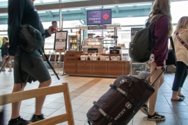 Canada: This food kiosk at the Halifax airport relies on