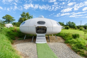 You can sleep in a replica spaceship for $11 with Airbnb's moon landing anniversary deal