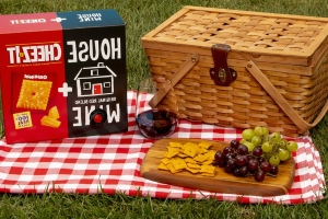 Cheez-It Made A Two-Sided Box That's Half Cheesy Crackers, Half Wine