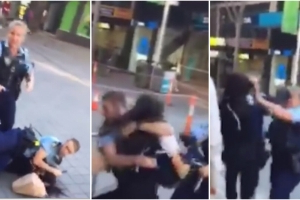 Teen girl pleads not guilty to cop assault at shopping centre