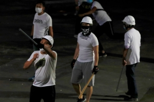 Who were the white T-shirt attackers in Hong Kong?