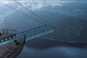 This Hotel Completely Hangs Off of a Cliff and It's Terrifying