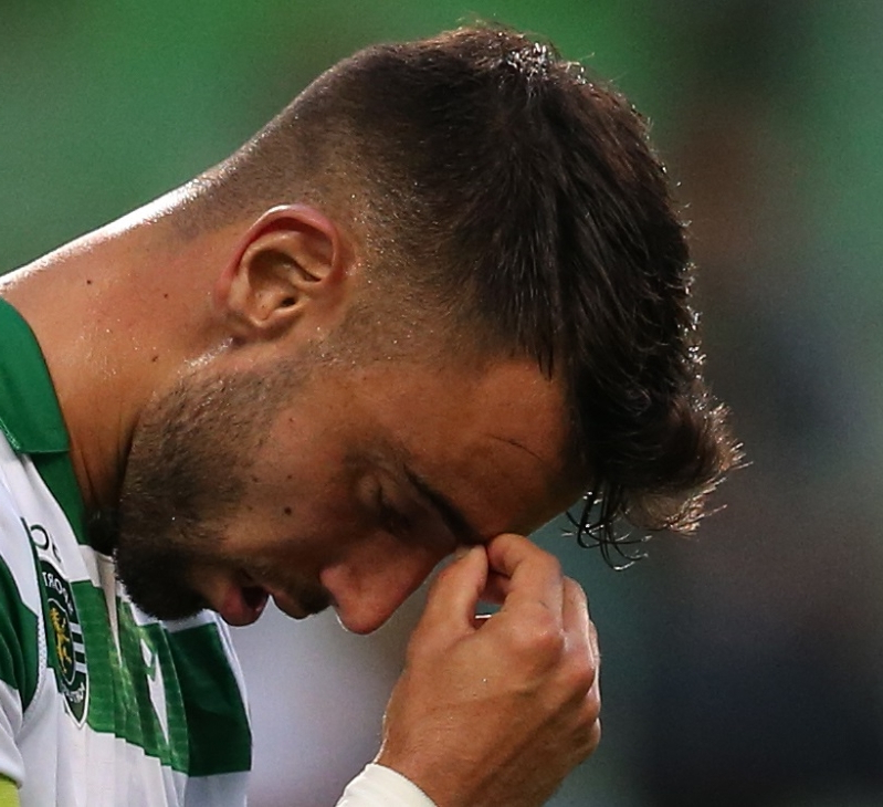 Are these the tears that confirm Bruno Fernandes IS joining Man United? Sporting Lisbon midfielder can't hide his emotions after playing what could be his final game for the club ahead of £56m move to Old Trafford