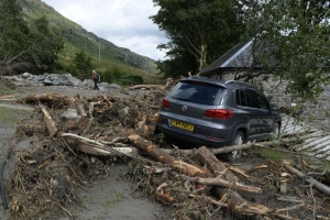 Picturesque Scots village once home to outlaw Rob Roy ravaged by landslide