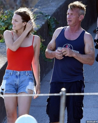 Sean Penn EXCLUSIVE: The Oscar-winner, 58, kisses girlfriend Leila George, 27, while on vacation in Positano