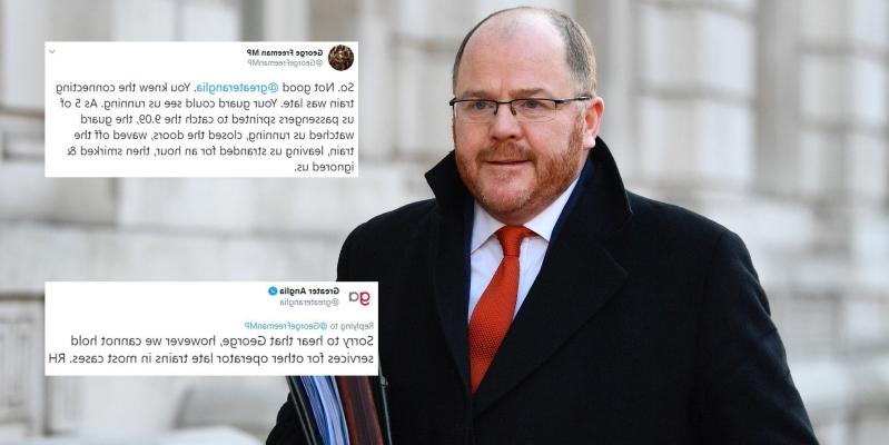UK News: Tory transport minister left fuming after train