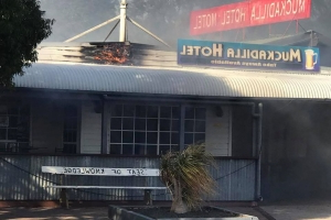 Muckadilla pub in Queensland outback gutted by fire in matter of minutes