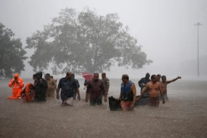 Torrential rains cause flooding, evacuations in southern India
