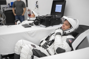See SpaceX's new spacesuits on the first astronauts to wear them