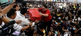 Day two: Hong Kong cancels outbound flights again amid protest chaos