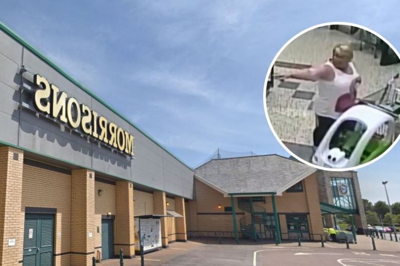 Man arrested after car hits pedestrian in Morrisons car park in Barry