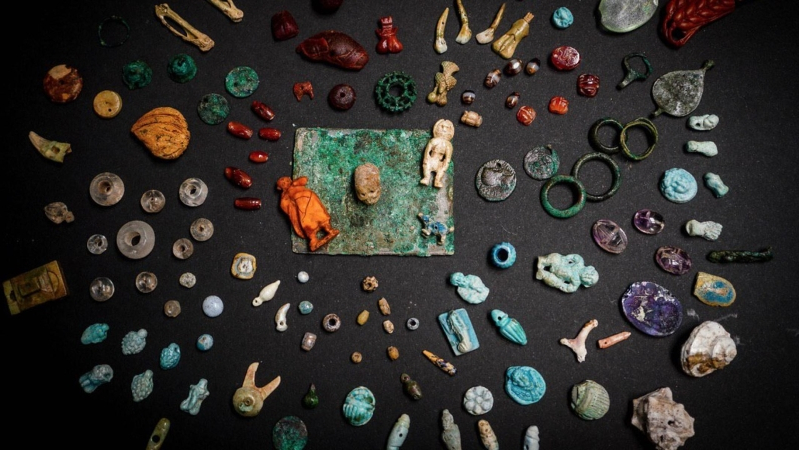 Pompeii archaeologists find 'sorcerer's treasure trove', including fertility charms