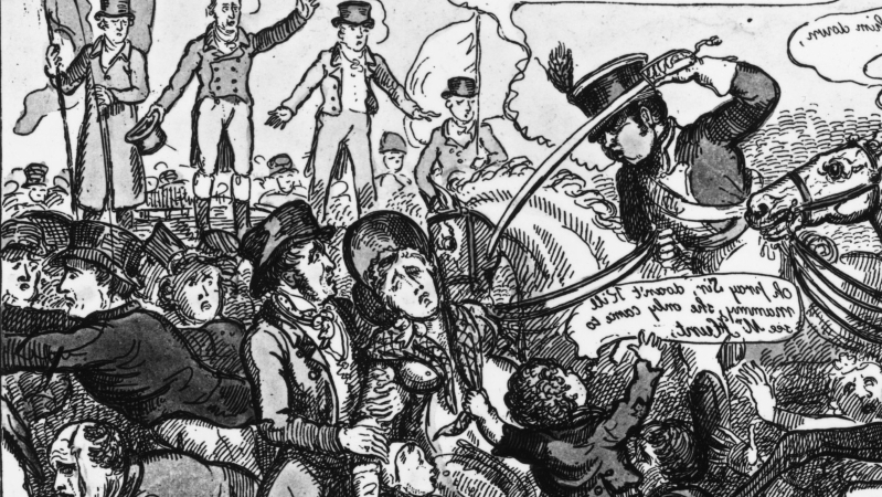 What was the Peterloo Massacre?