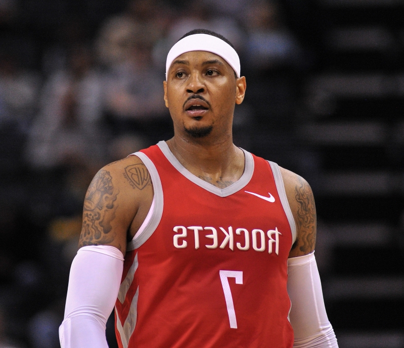 Carmelo Anthony working out with Nets players