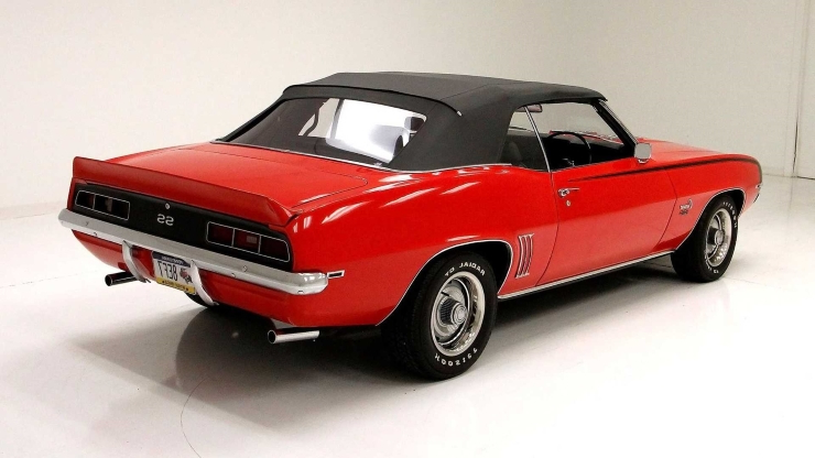 Cruise In Style With This 1969 Chevrolet Camaro Convertible