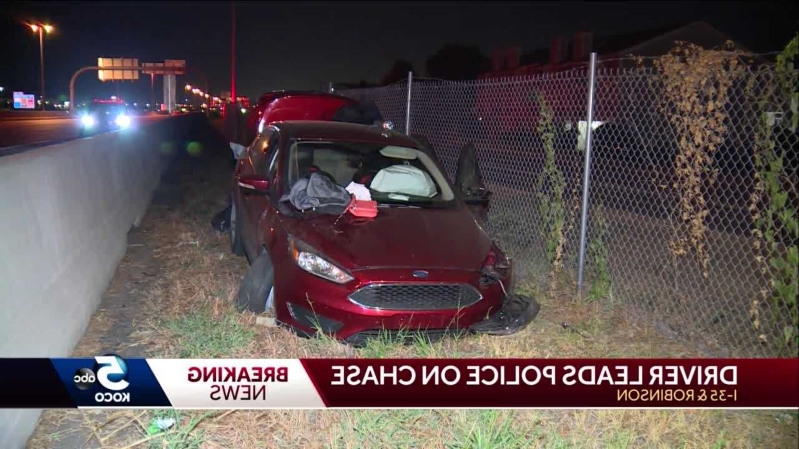 Three in custody after chase ends in crash in metro