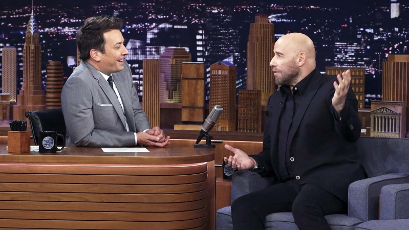 "John Travolta Competes in ""Travolt-Off"" Challenge with Jimmy Fallon"
