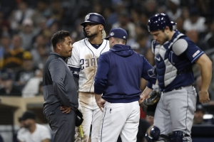 Padres rookie Tatis Jr. (back) likely out for rest of season