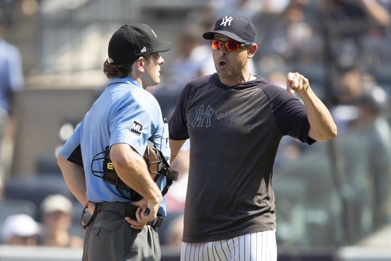 best authentic c4df3 67788 Sport: Angry Yankees feeling victimized by umpire targeting ...