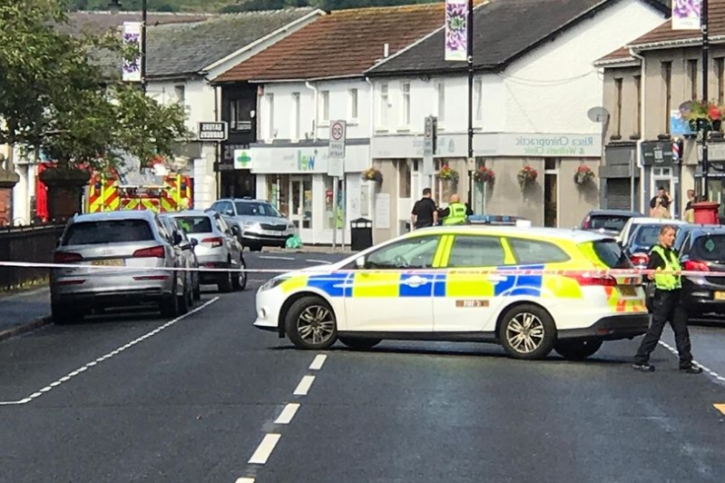 Risca car fire: Witness describes desperately trying to save man in burning car