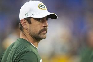 Aaron Rodgers tried to trip Matt Nagy at celebrity golf tournament?