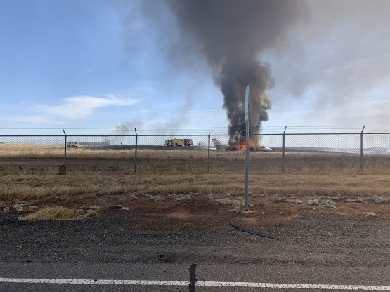 Plane erupts in flames after failed takeoff at Oroville airport