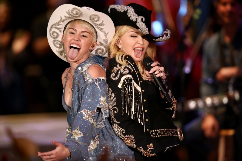 Miley Cyrus praised by Madonna for defending herself against Liam Hemsworth cheating allegations