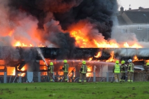 80 firefighters tackle 'large and complex' blaze at Scottish high school