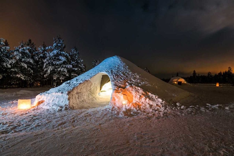 You can rent a snow igloo in Finland on Airbnb for $122 a night