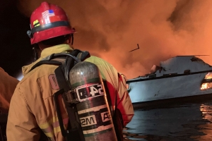 Dozens missing, some dead after diving boat destroyed by fire off California coast