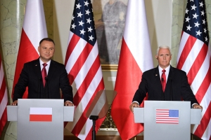 Mike Pence in Poland: Polish leader won't back Russia returning to G7
