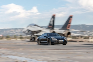 Porsche Taycan launches on an aircraft carrier, stays dry