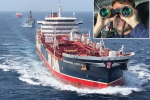 'She's all mine now': Commander of British warship reveals the Iranians' sick taunt after they stormed British-flagged tanker... and how they are now hunting for our sailors