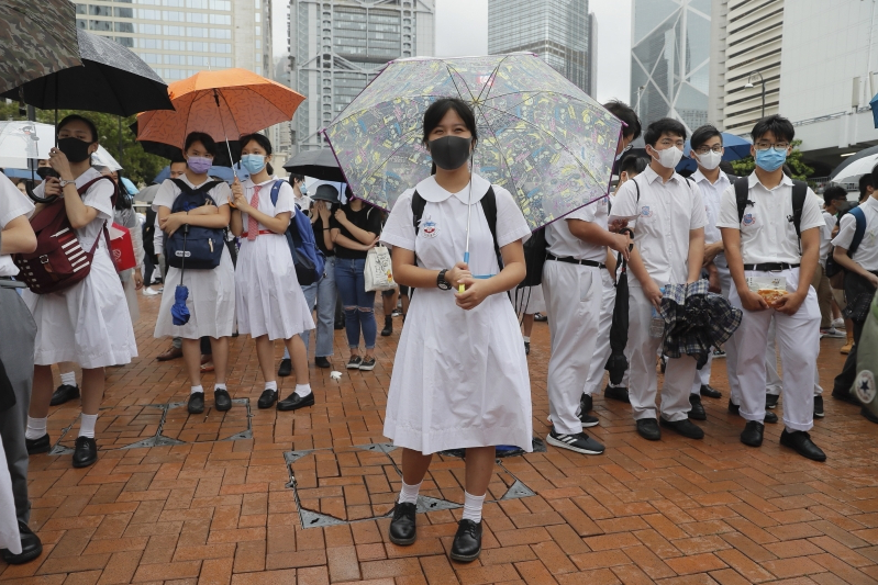 First day of school in Hong Kong brings class boycotts and more rallies