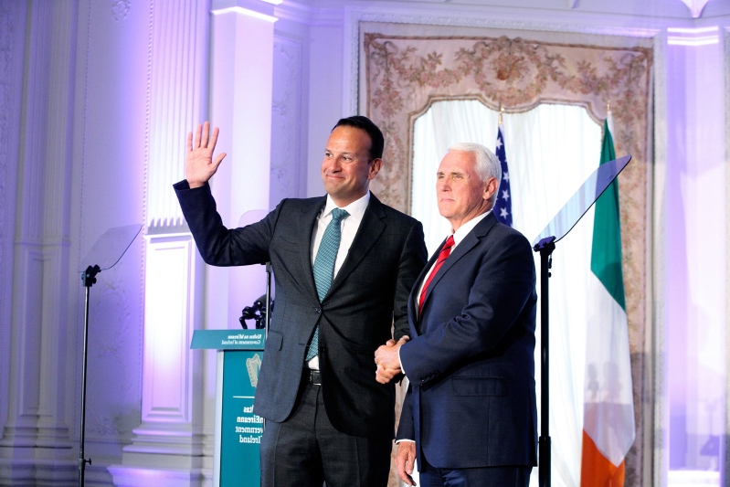US Vice President Mike Pence urges Ireland and EU to negotiate Brexit 'in good faith' with Boris Johnson