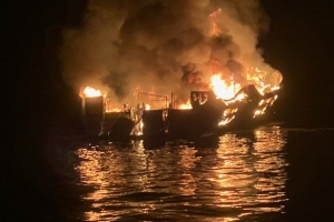 California dive boat fire: Dozens trapped after flames blocked escape routes