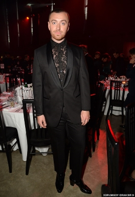 GQ Men Of The Year Awards 2019: Sam Smith sparks romance rumours as he holds hands with mystery man after arriving in lace blouse and heels