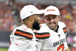 Baker Mayfield unconcerned about lack of preseason reps with Odell Beckham