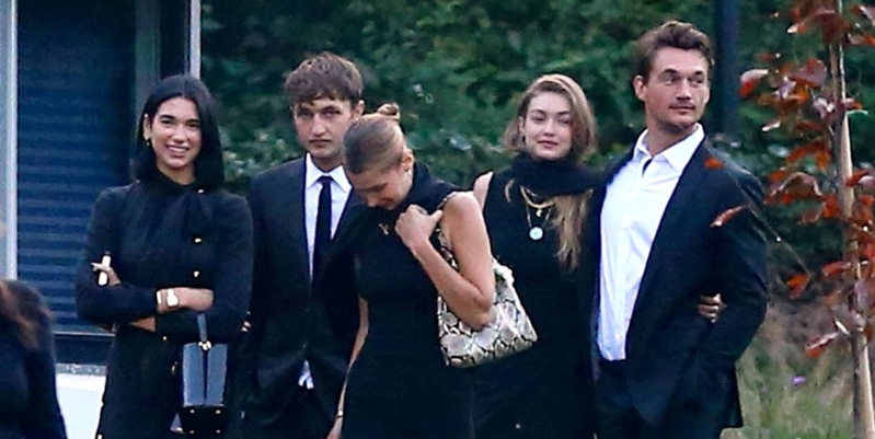 Tyler Cameron and Dua Lipa Joined Gigi, Anwar and the Hadid Family at Their Grandmother's Funeral
