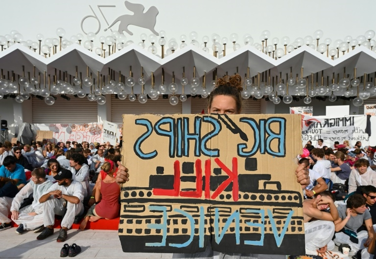Anti-cruise ship protesters target Venice film festival