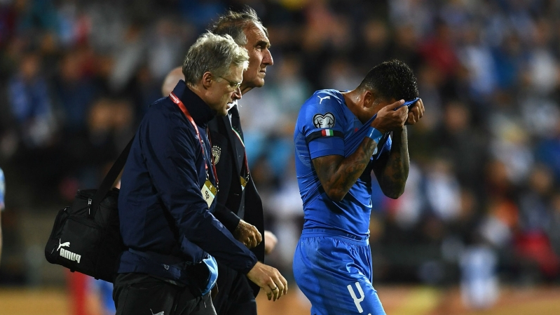Injury blow for Chelsea as in-form left-back Emerson limps out of Italy game