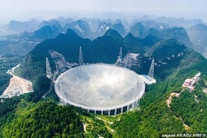 China's biggest telescope detects more than 100 'mysterious' radio signals thought to have come from three BILLION light years away