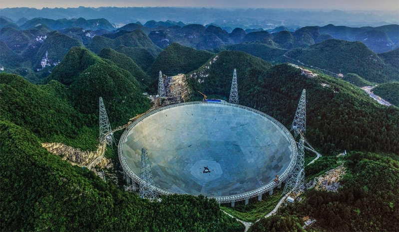 China's biggest telescope detects 100 mysterious signals from three billion light years away