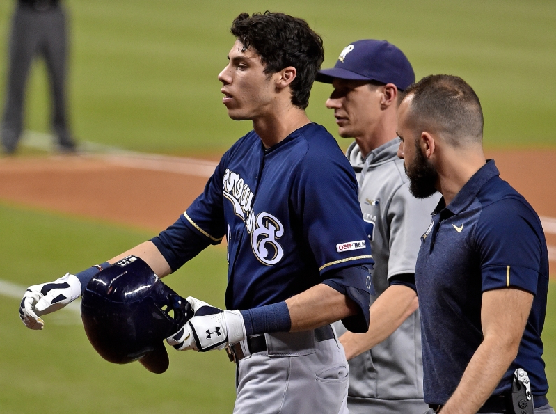 MLB world reacts to Christian Yelich's brutal injury