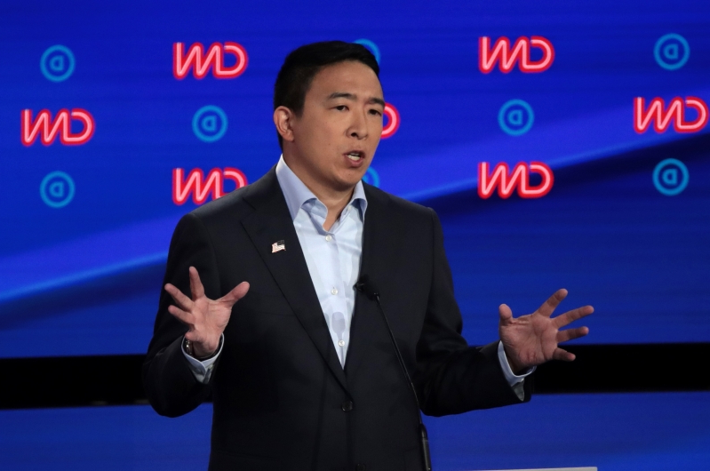 Andrew Yang annoyed Democratic debate overlaps with NFL game