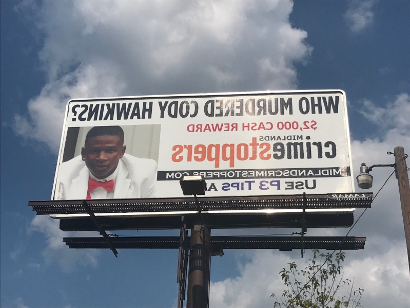 Billboard unveiled, announcing reward for info in unsolved shooting death