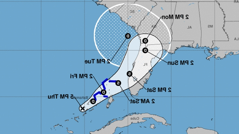 Tropical Storm Warning Issued for NW Bahamas for System